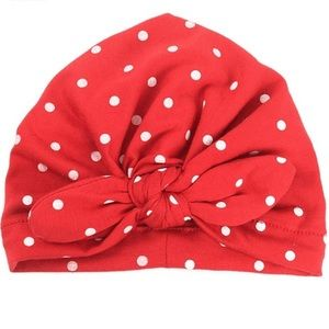 🆕 Baby Red Polka Dot Turban Hat! 🆕